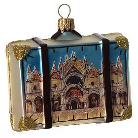 Maleta Venecia adorno vidrio soplado Árbol Navidad s2