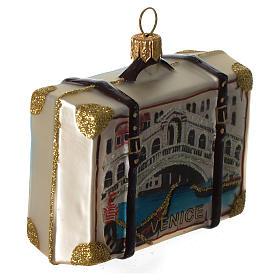 Maleta Venecia adorno vidrio soplado Árbol Navidad s3