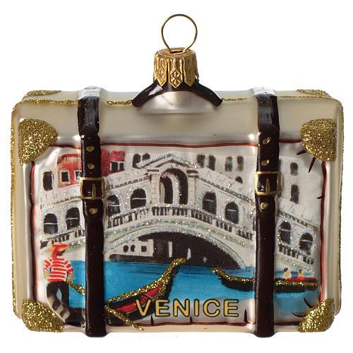 Maleta Venecia adorno vidrio soplado Árbol Navidad 1