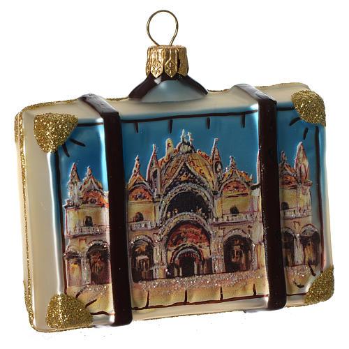 Maleta Venecia adorno vidrio soplado Árbol Navidad 2