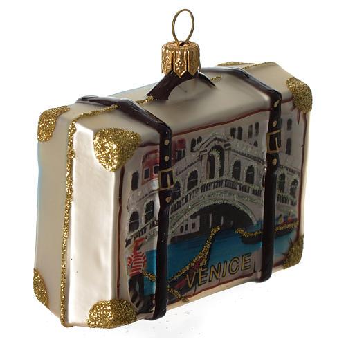 Maleta Venecia adorno vidrio soplado Árbol Navidad 3