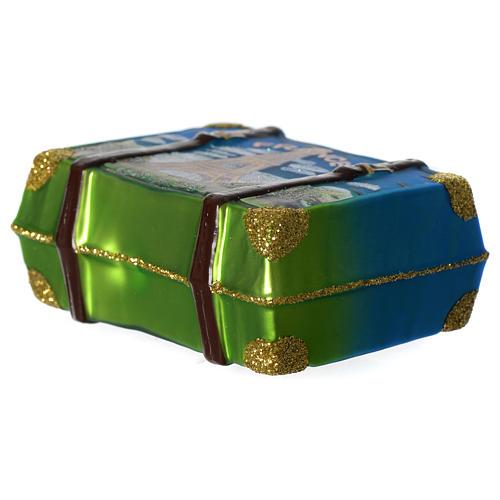 Valigia Francia addobbo vetro soffiato Albero Natale 3