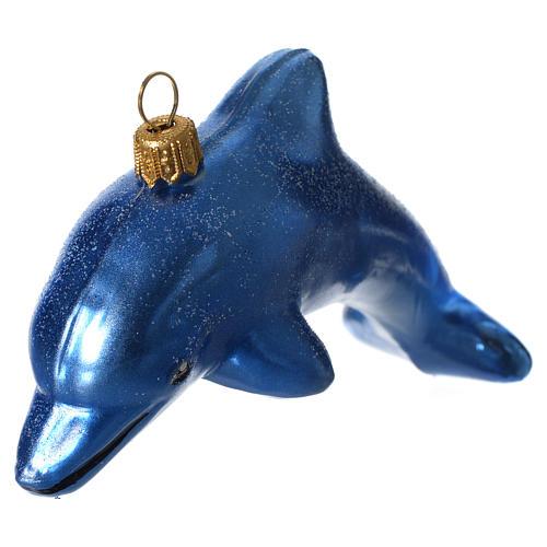 Delfino addobbo vetro soffiato Albero Natale 2