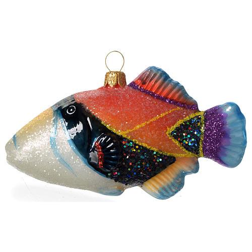 Poisson-baliste décoration verre soufflé Sapin Noël 2