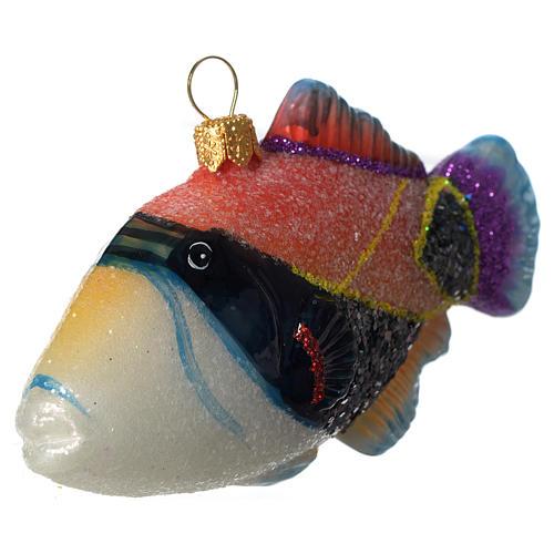 Poisson-baliste décoration verre soufflé Sapin Noël 3