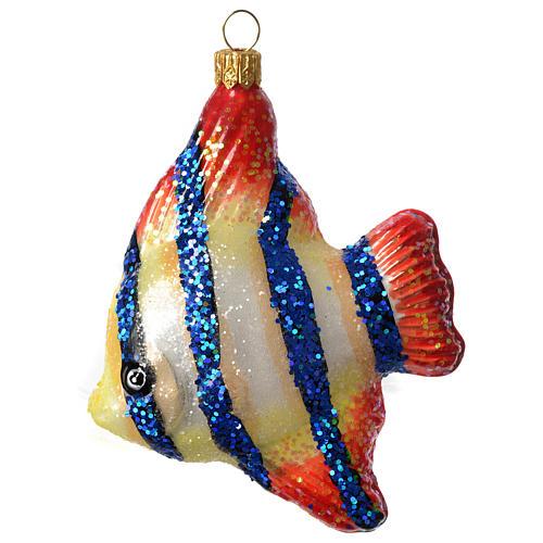 Angelfish Christmas ornament blown glass 1
