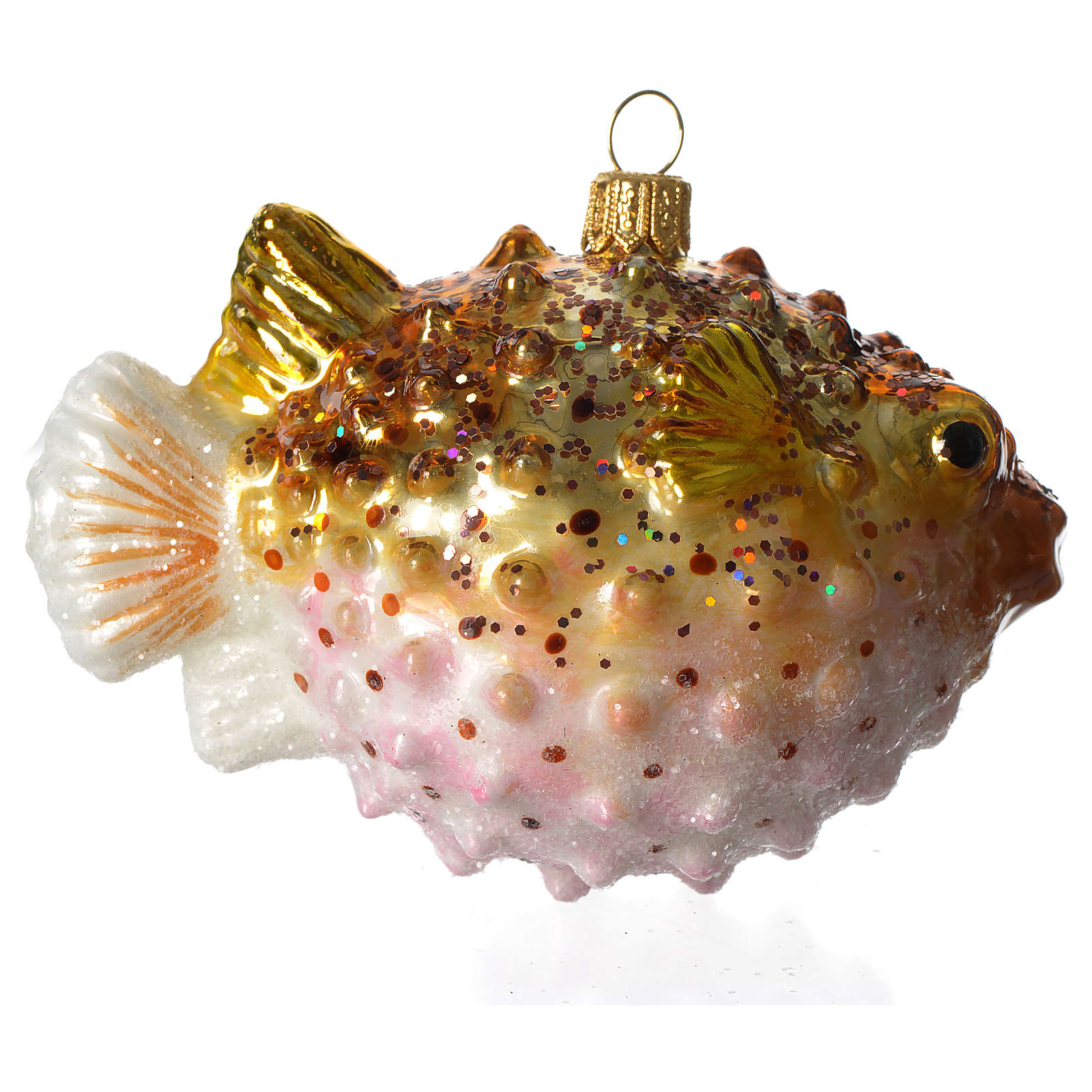 Pez Globo adorno vidrio soplado Árbol Navidad 4