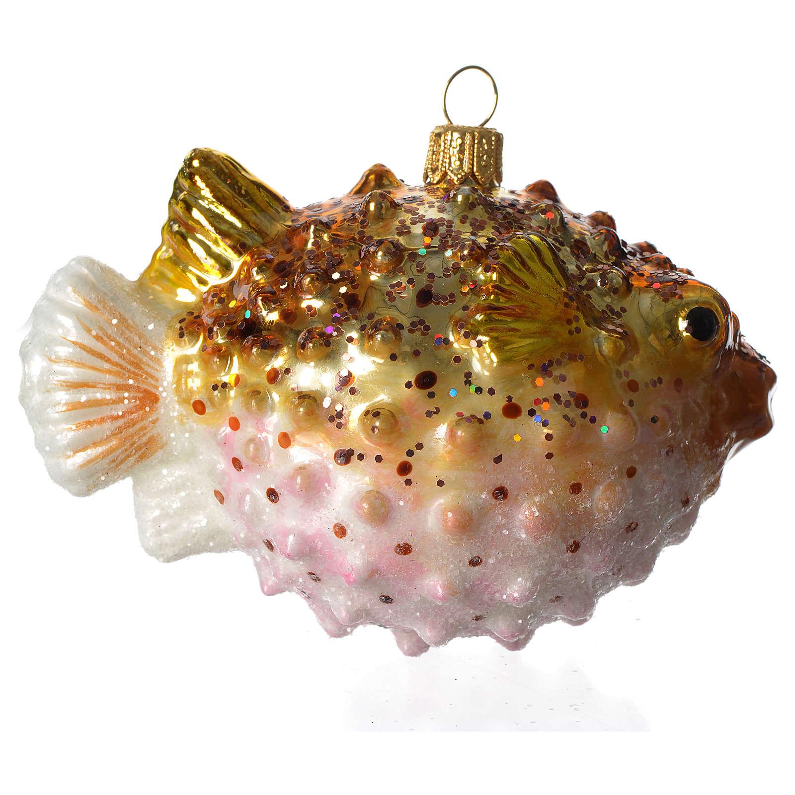 Pesce Palla addobbo vetro soffiato Albero Natale 4