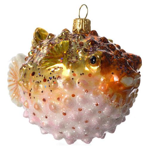 Baiacu adorno vidro soprado para árvore Natal 2