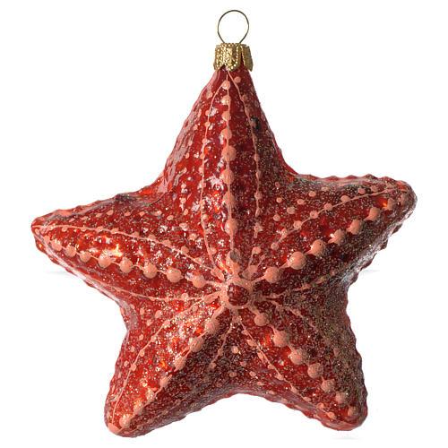 Estrella de mar adorno vidrio soplado Árbol Navidad 1