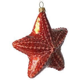 Étoile de mer décoration verre soufflé Sapin Noël s2