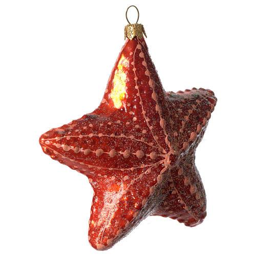 Étoile de mer décoration verre soufflé Sapin Noël 2