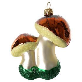 Champignons décoration verre soufflé Sapin Noël s2