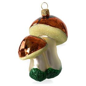 Champignons décoration verre soufflé Sapin Noël s3