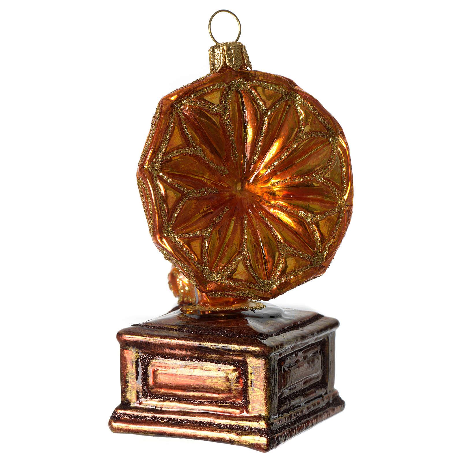 Grammofono addobbo vetro soffiato Albero Natale 4