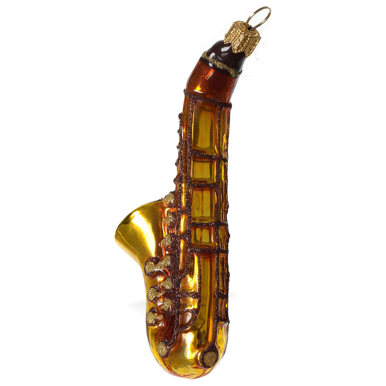 Saxophone décoration verre soufflé Sapin Noël 4