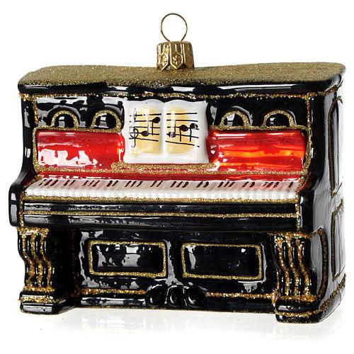 Piano adorno vidrio soplado Árbol Navidad 1