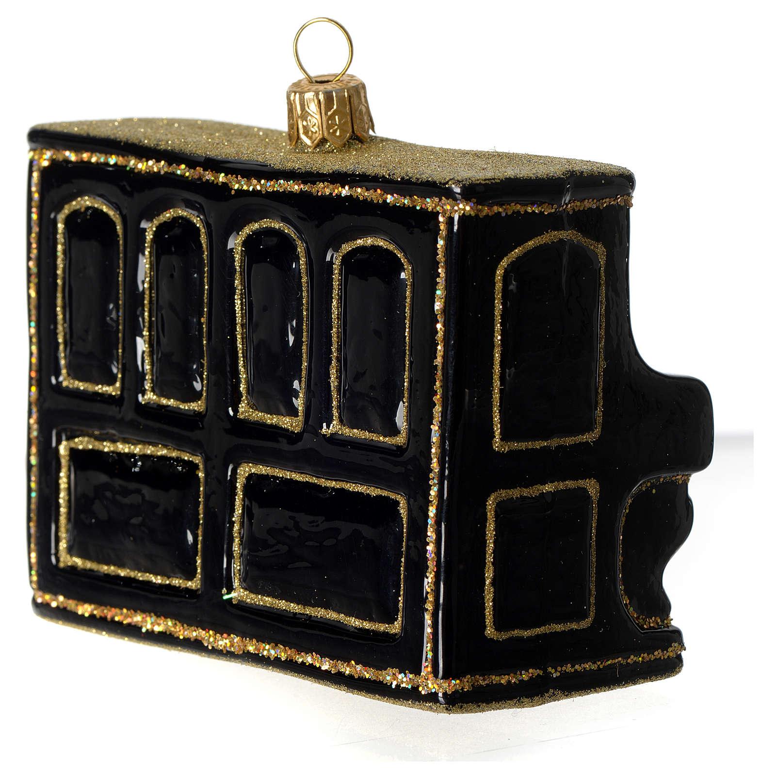 Piano décoration verre soufflé Sapin Noël 4