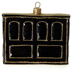 Piano adorno em vidro soprado para árvore Natal s4