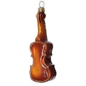 Violino addobbo vetro soffiato Albero Natale s2