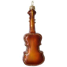 Violino addobbo vetro soffiato Albero Natale s3