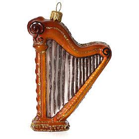 Harpe décoration verre soufflé Sapin Noël s1