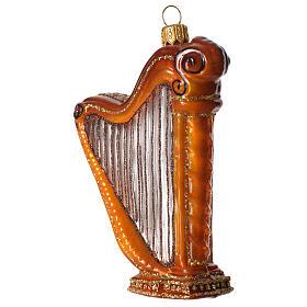 Harpe décoration verre soufflé Sapin Noël s2