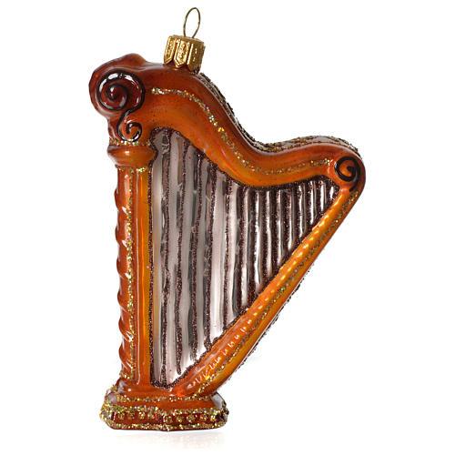 Harpe décoration verre soufflé Sapin Noël 1