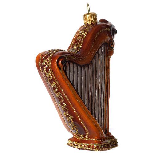 Harpe décoration verre soufflé Sapin Noël 3