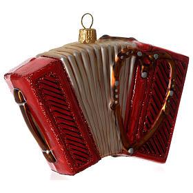 Fisarmonica addobbo vetro soffiato Albero Natale s3