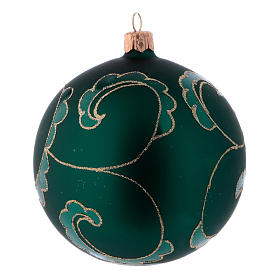 Green blown glass Christmas balls matte finish 10 cm s4