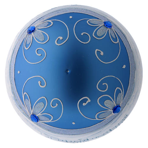 Bola Árbol de Navidad vidrio azul paisaje ártico 150 mm 4