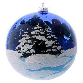 Bola Árbol vidrio azul transparente Dones de Papá Noel 150 mm s3