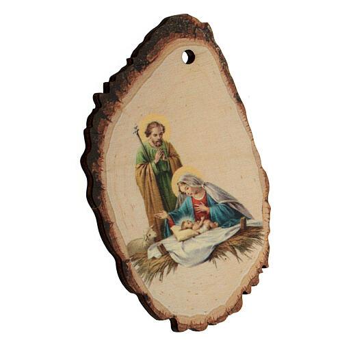 Décoration de Noël bois façonné Sainte Famille et Enfant Jésus 2