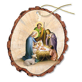 Christmas tree ornaments in wood and pvc: Christmas decoration in wood, Nativity of Jesus