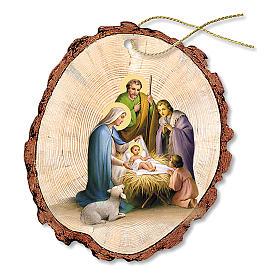 Adornos de madera y pvc para Árbol de Navidad: Decoración Navideña madera Belén Sagrada Familia Niño Jesús