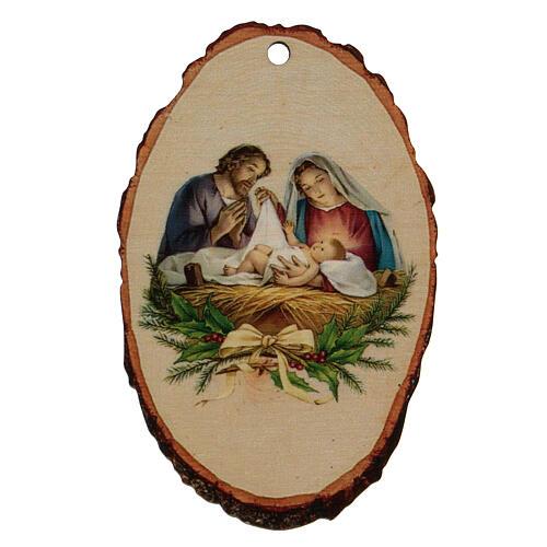 Addobbo Natalizio legno sagomato Presepe Natività 1