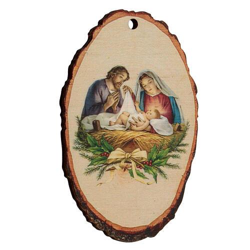 Addobbo Natalizio legno sagomato Presepe Natività 2