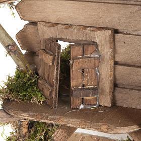 Nativity scene accessory, cabin-style hut, 28x38x30cm s3