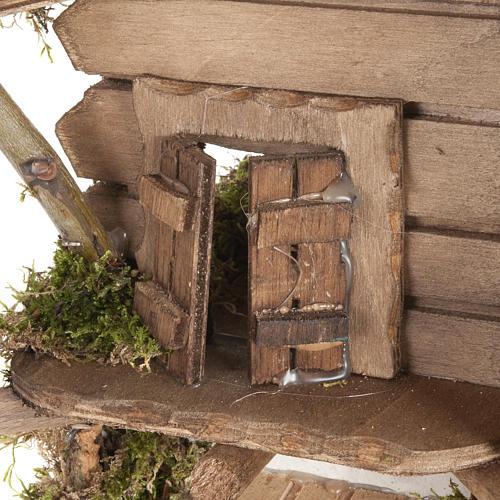 Nativity scene accessory, cabin-style hut, 28x38x30cm 3