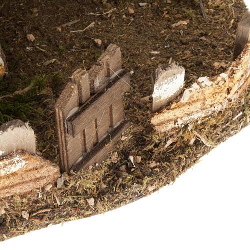Nativity scene accessory, cabin-style hut, 28x38x30cm 6