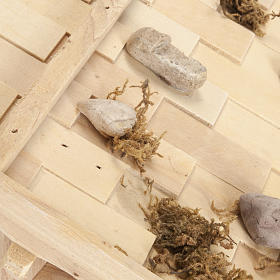 Capanna presepe legno naturale 60x30x30 cm s7
