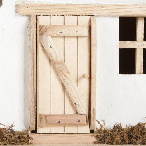 Capanna presepe legno naturale 60x30x30 cm 6