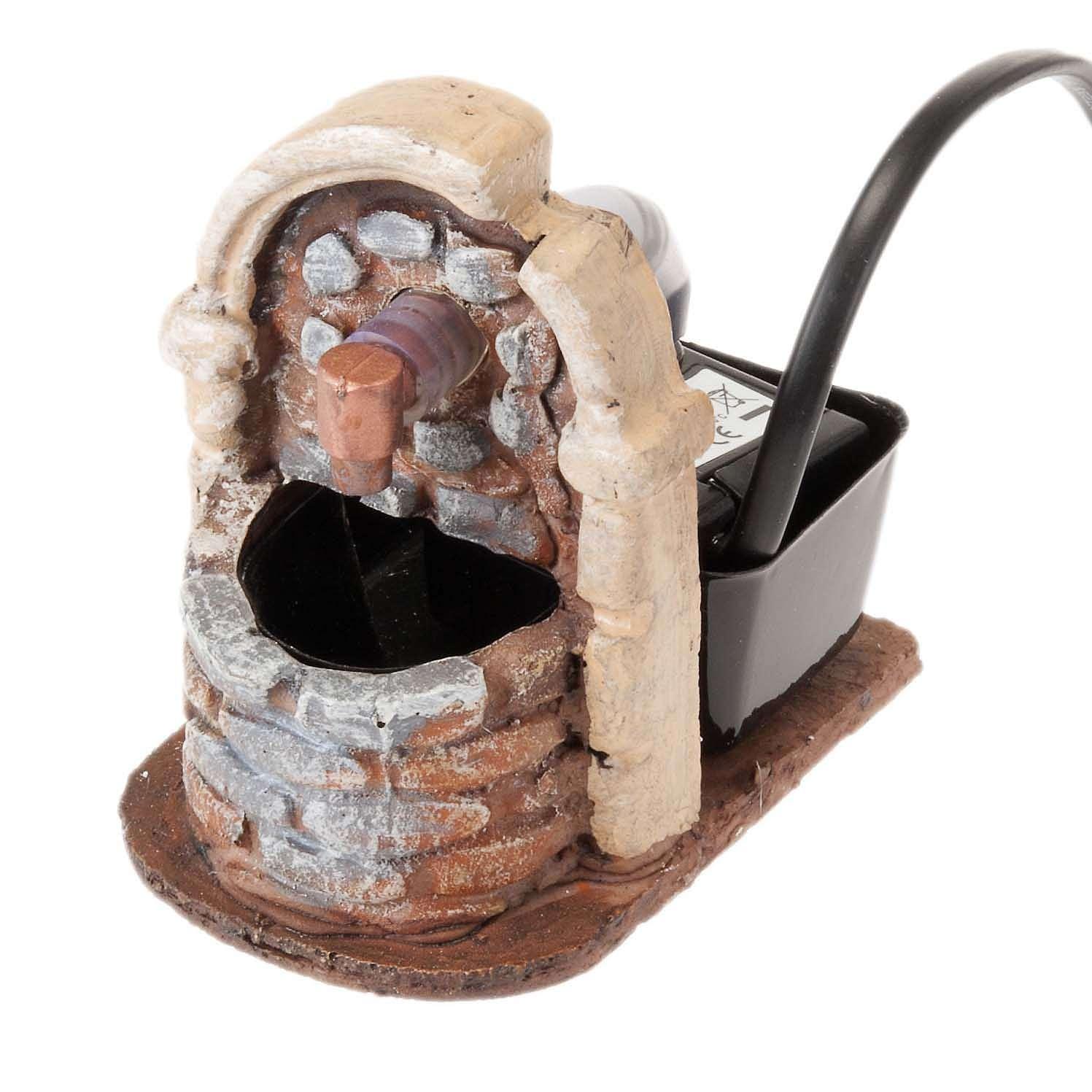 Fuente con  bomba de agua de resina 9x7x10 4
