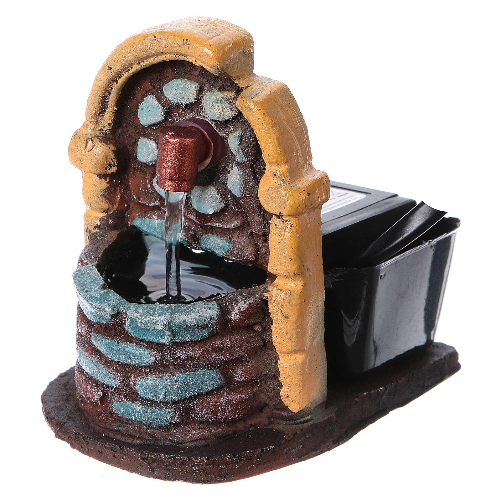 Fontaine décor crèche de noël avec pompe 9x7x10 4