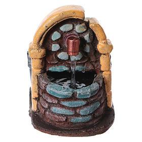 Fontaine décor crèche de noël avec pompe 9x7x10 s1