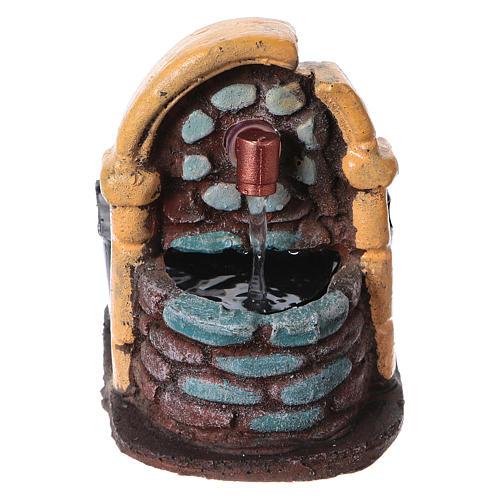 Fontaine décor crèche de noël avec pompe 9x7x10 1