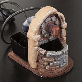 Nativity accessory, fountain in resin, 9x7x10 cm s2