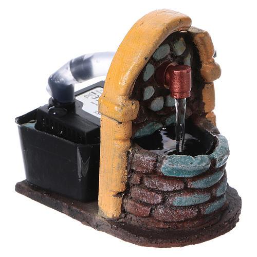 Nativity accessory, fountain in resin, 9x7x10 cm 2