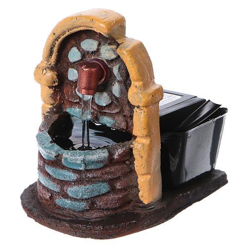 Nativity accessory, fountain in resin, 9x7x10 cm 3